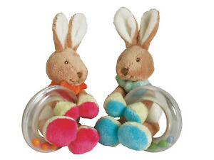 NEW-baby-safe-GIRL-gift-soft-plush-toy-BUNNY-RATTLE