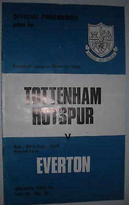 1973 ProgrammeTOTTENHAM H. v Everton