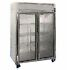 Refrigerator: Randell 2020 Glass Door 47 cu. ft. Refrigerator Side by Side, 47 cu. ft., 6 Shelves, Door Opens to...
