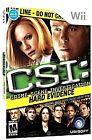 CSI: Crime Scene Investigation - Hard Evidence (Nintendo Wii, 2008)