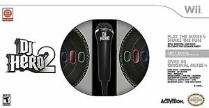 New-Wii-DJ-Hero-2-Turntable-Party-Bundle-with-Microphone-Game