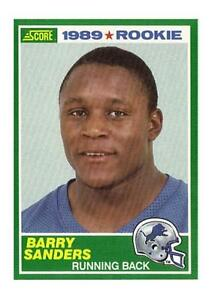 1989 Score Barry Sanders Detroit Lions 257 Football Card