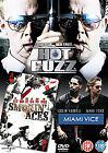 Hot Fuzz/Miami Vice/Smokin' Aces (DVD, 2007, 3-Disc Set, Box Set)