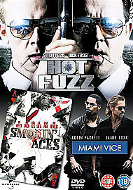 Hot FuzzMiami ViceSmokin039 Aces DVD Very Good DVD Jim Broadbent Timothy Da - Gillingham, United Kingdom - Hot FuzzMiami ViceSmokin039 Aces DVD Very Good DVD Jim Broadbent Timothy Da - Gillingham, United Kingdom