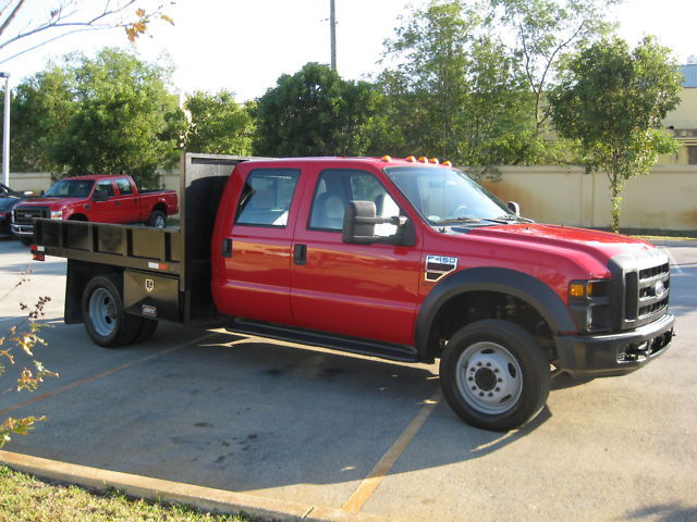2008 F450 CREW CAB DIESEL 9FT FLATBED DUALLY