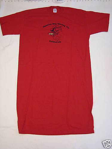 New Womens Red Dancing Dog Jerzees T shirt 100% Cotton