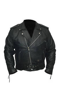 Mens-Brando-Leather-Jacket-Classic-Motorcycle-Jacket