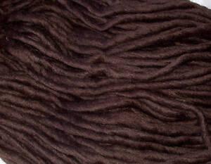 Pencil-Yarn-100-Wool-MOCHA-dreads-felting-dolls-hair-dreadmaking-brown-4m