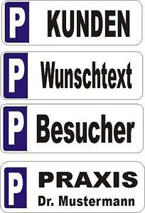 10-Parkplatzschilder-52-x11cm-Alu-Kennzeichen-Wunschtext-Parkplatz-Schild-Neu