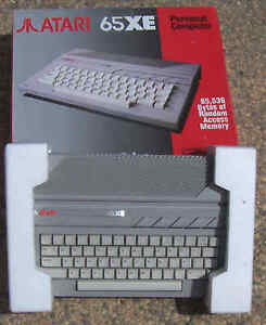 65XE-Atari-Case-with-Keyboard-No-CPU-Computer-ETC-New-but-Box-poor