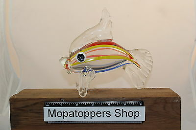 Large Colourful Glass Fish Ornament Paperweight FREE P&P