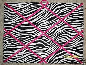 ZEBRA-PHOTO-MEMO-WITH-PINK-RIBBON-MEMORY-BOARD