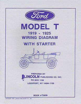 1919-25 Ford Model T Wiring Diagrams With Starter