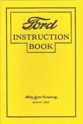 1926 1927 Ford Model T Owner's Manual