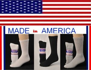 big-and-tall-Mens-Crew-Sock-for-men-with-big-wide-calf-sock-size-13-15-USA-made