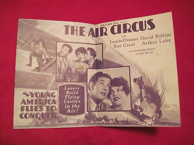 AIR CIRCUS LOST HOWARD HAWKS Movie Herald Pamphlet 1928