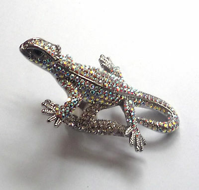 Butler And Wilson Ab Crystal Lizard Ring Uk L Qvc S