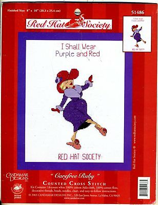 Red Hat Society - Carefree Ruby - Counted Xs Kit