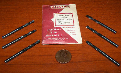 6 Dayton 9/64 Stub Length Drills Hss Shop Machine