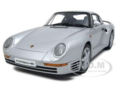 PORSCHE 959 SILVER 1:18 DIECAST CAR MODEL BY AUTOART 78081