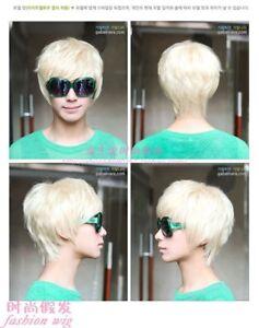 146-New-Fashion-Short-Platinum-Blonde-Man-Wig