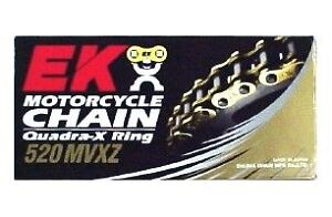 new EK mvxz series quadra x-ring x ring xring chain 530 BLACK 120 link   571796