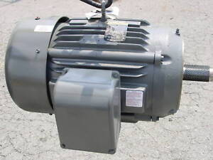 New baldor 30 hp 87 amp three phase electric motor for 3 phase motor hp to amps