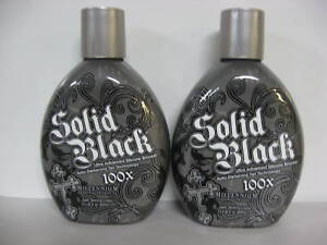 LOT-OF-2-MILLENNIUM-SOLID-BLACK-100x-SILICONE-BRONZER-INDOOR-TANNING-BED-LOTION