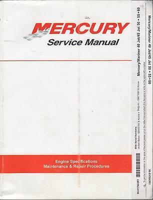 1997 Mercury Outboard 40/45/50/55/60jet Service Manual