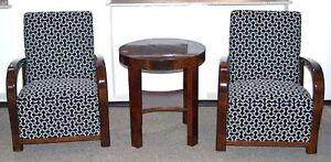 ART-DECO-SITZ-MOBEL-TISCH-ZWEI-FAUTEUILS-ROUND-TABLE-TWO-FAUTEUIL-SWIEN-1930-C