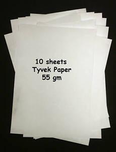 Tyvek A4 55gm - Pack of 10 sheets Tyvek Paper