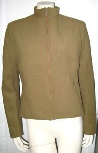 GIANFRANCO-FERRE-VINTAGE-JACKET-BROWN-1990s-LAIDES-size-33-46-MADE-IN-ITALY