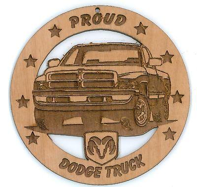 Dodge Ram Pickup Wood Ornament Engraved