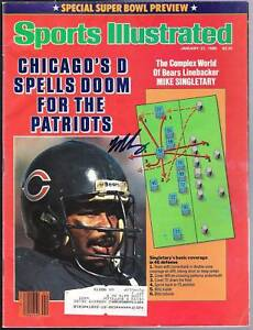 MIKE-SINGLETARY-SIGNED-SPORTS-ILLUSTRATED-1-27-86-BEARS
