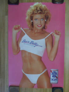 Sexy Girl Beer Poster Pabst Blue Ribbon Pbr Beer Belly