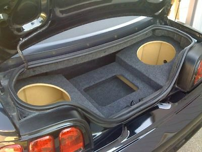 94-04 Mustang Coupe - Custom Sub Box Subwoofer Enclosure & Amp Rack - 2 12