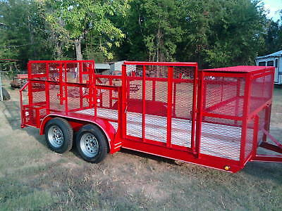 New 2019 - 77 X 16 Professional Landscape Utility Mower Grass Trailer
