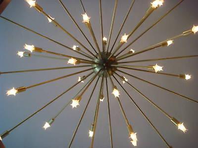 extra large xl atomic sputnik starburst light fixture 48. Black Bedroom Furniture Sets. Home Design Ideas