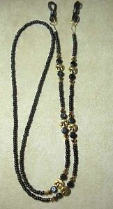GOLD-FACES-MADE-WITH-SWAROVSKI-CRYSTAL-EYEGLASS-CHAIN-HOLDER