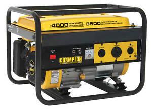 Champion 4000 Watt Portable Gas Generator RV Ready 46596
