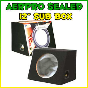 12 INCH SUB WOOFER BOX BLACK CARPET BRAND NEW SEALED