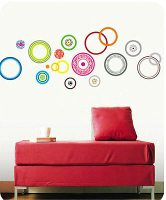 Colorful-Circles-Wall-Stickers-Art-Decal-Mural-Paper-Decor-Home-DIY-Peel-Stick