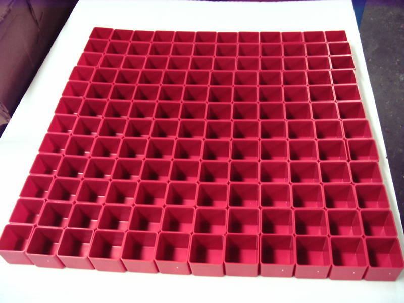 """144  2"""" x 2"""" x 2"""" deep Red Plastic Boxes Drawer Accessories fit Lista Perfectly"""