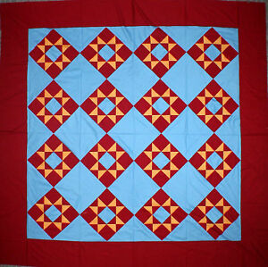 Patchwork Amish Dreams, Ohio Star Quilt - Great colors (Quilt Top) - Queen