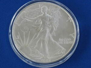 1986 Liberty Walking American Silver Eagle Dollar Coin