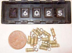 100-Count-2-Amp-Tyco-Yellow-323912-MIL-M-20693-Stud-Ring-Terminal-Nylon