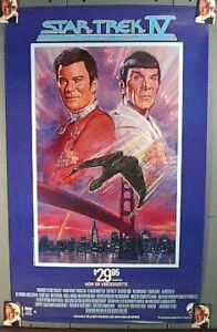 1987 STAR TREK IV VOYAGE HOME Video Poster