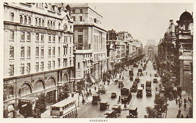 KINGSWAY - VINTAGE WW2 LONDON ENGLAND POSTCARD