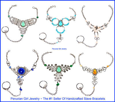 20 Slave Bracelets Belly Dance Body Jewelry Peruvian