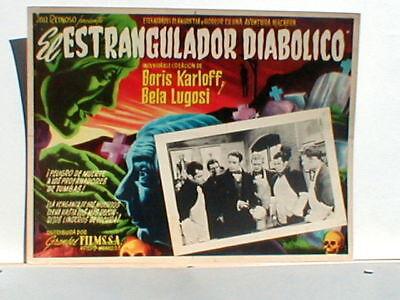 Lobby Card Boris Karloff El Estrangulador Diabolico #1